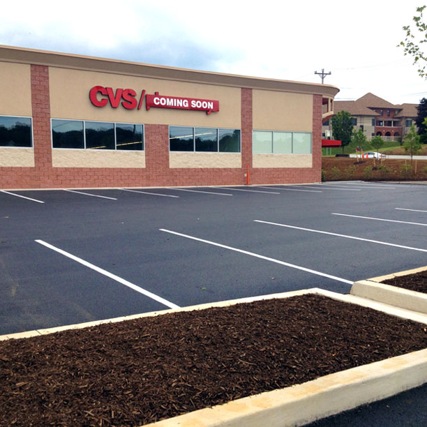 new parking lot construction at cvs on south atherton street state